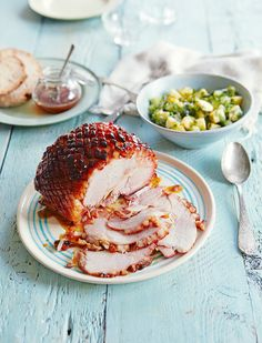 The sweet, sticky glaze works brilliantly with the salty meat in this gammon recipe, while Asian favours and fresh herbs stop everything from becoming sickly.