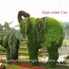 q072016 made in china vendita calda giardino decorazione di erba artificiale elefante animali arte topiaria-Erba artificiale-Id prodotto:1984632894-italian.alibaba.com
