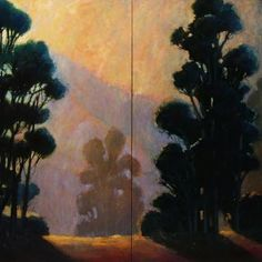 """Eucalyptus Diptych, Panels 1 and 2""60""x48"" studio oil on wrapped canvasCatalog# 439 and 440Available"