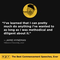 Jamie Hyneman, 2010. From NPR's The Best Commencement Speeches, Ever.