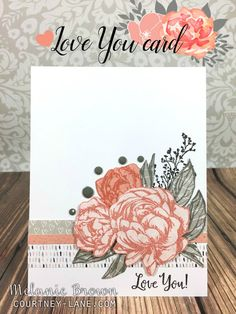 Love You stamped card