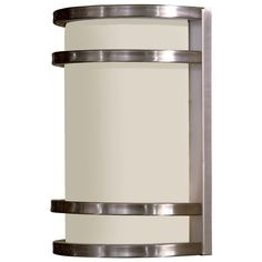 Progress Modern Outdoor Wall Light with White in Antique Bronze