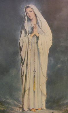 our lady of lourdes. close, but no Madonna. But she's got a good look, eh? Blessed Mother Mary, Divine Mother, Blessed Virgin Mary, Queen Mother, Catholic Art, Catholic Saints, Religious Art, Catholic Relics, Immaculée Conception