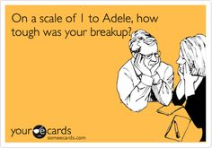 On a scale of 1 to Adele, how tough was your breakup?