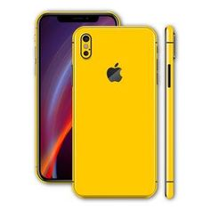 1745d1328c0b iPhone XS MAX Glossy Golden Yellow Skin
