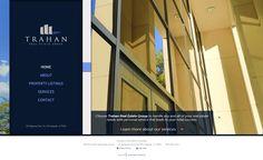 Trahan Real Estate Group in Lafayette, LA - Website Design and Development: Contact Form, Map, Side Navigation, Clean slide out menus, Bio Web App, Services break out menu