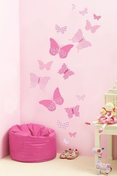 Decorate A Little Girlu0027s Bedroom, Nursery Or Playroom With These  Butterflies Wall Decals Filled With Part 95
