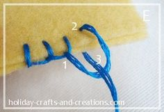 Blanket Stitch Tutorial for Hand Applique