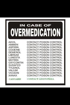 In case of over medication