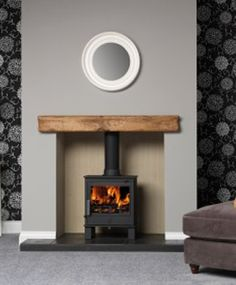 ACR Malvern - Ex-display (One Only) - The Stove House Midhurst Nr Chichester West Sussex Home Living Room, Home, Living Room With Fireplace, Oak Beam Fireplace, House Styles, New Homes, Log Burner Living Room, Grey Fireplace