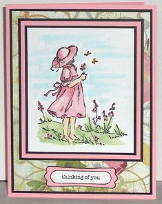 Summer by the Sea - girl in pink by lacyquilter - Cards and Paper Crafts at Splitcoaststampers