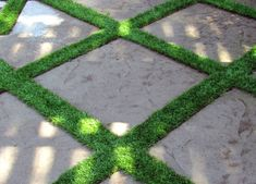 Would you believe artificial grass?! | gardenista. Artificial turf can serve as a permeable break between flagstones.