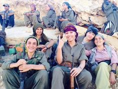 Heavily armed women from the Turkish PKK have gone into into Iraq to tackle the jihadists, 2014