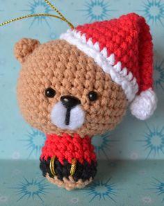 Es un Mundo Amigurumi - Oso de Navidad