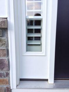 Entry Door Sidelight Window Shutters | Sunburst Shutters