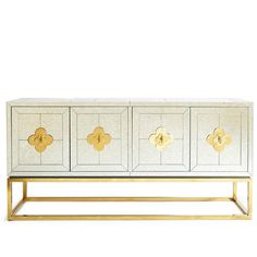 Jonathan Adler Delphine Credenza (17,405 MYR) ❤ liked on Polyvore featuring home, furniture, storage & shelves, sideboards, jonathan adler furniture, shelving furniture, adjustable shelf, shelves furniture and turquoise furniture