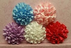 """Wholesale 10 Pcs 2"""" Satin Flowers No Clips Baby Girl Hair Bow/Graft Supplies"""