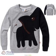 Розничная свободная перевозка груза , Нью- Слон, детей свитер , мальчик девочка пуловер топ рубашки с капюшоном свитер балахон , в наличии 291,10 - 309,30