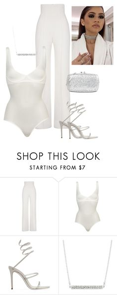 """""""Untitled #112"""" by zivapersonalshopping ❤ liked on Polyvore featuring Yves Saint Laurent, Wolford, René Caovilla and Love Moschino"""