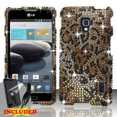 LG Optimus F6 D500 / MS500 (T-Mobile/MetroPCS) 2 Piece Snap On Rhinestone/Diamond/Bling Case Cover, Black Cheetah Spot Pattern Silver/Gold Cover   http://www.amazon.com/dp/B00GLEDOG6/ref=cm_sw_r_pi_dp_OKe2sb04TX0JF0VW