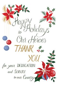 Printable holiday card from Behold Designz for #holidaysforheroes   http://burnettsboards.com/2013/11/holidays-heroes/