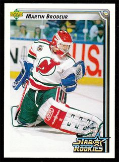 Martin Brodeur # 408 - 1992-93 Upper Deck Hockey