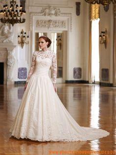 Designer Brautkleider aus Organza mit Ärmel