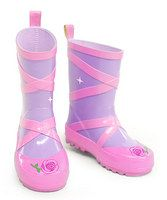 Splish splash! Stomping in puddles becomes even more fun when your little gal wears these kid-approved boots. Made of natural rubber, this pair ensures tootsies stay dry and your sweetie stays happy. Mix and match with other Kidorable raingear to keep your little one completely covered and totally trendy.• Natural rubber• Imported