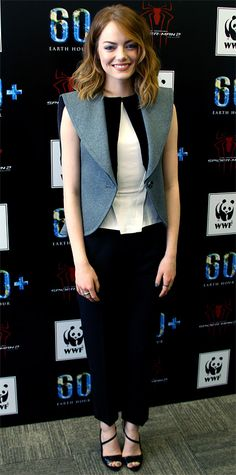 Look of the Day - March 31, 2014 - Emma Stone in Balenciaga from #InStyle