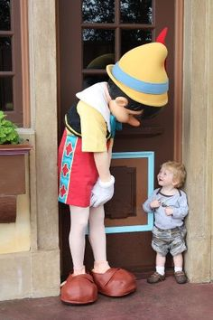 Pinnochio. The little boy's face is priceless.