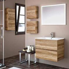 """Résultat de recherche d'images pour """"salle de bain naturofloor"""" Bathroom Toilets, Double Vanity, Bathroom Lighting, Mirror, House, Furniture, Sauna, Home Decor, Images"""