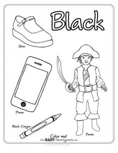 Post image for The Color Pink {Coloring Page} Pre School