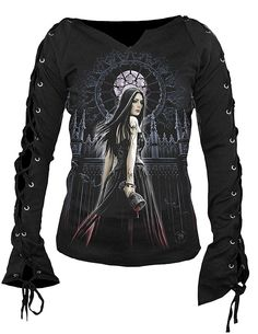 Gothic Siren LS Lace Top - SPIRAL DIRECT, £17.99