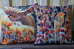 A set handmade pillow / cushion with vintage door patcheduppillows