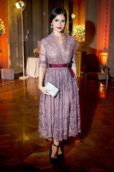 Miroslava Duma. Love the color, the lace, the understated elegance. She is my…
