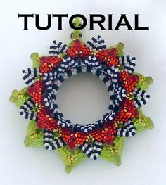 TUTORIAL Ric Rac Water Lily Pendant | MikkiFerrugiaroDesigns - Patterns on ArtFire Bought it...can't wait to make it!