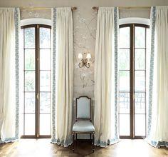 banded drapes