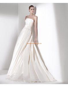 Robe de mariée taffetas évasée drapée 2015
