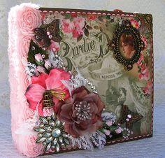 Victorian style binder album