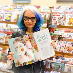 Spotted my article in Acrylic Artist magazine at Barnes & Noble...so fun!