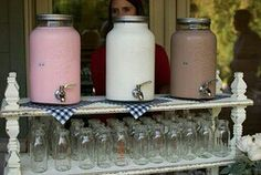 milk fountains to go with the oreo cookies, perfect.
