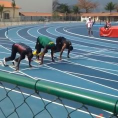 Going for gold 🏅🏅🏅! #BrandAmbassador Usain Bolt (@usainbolt) putting in that work during his training session, along side team-mate Yohan Blake (@yohanblake) and Daniel Bailey (@danielbailey100m) of Antigua and Barbuda.  Digicel, proud partner of the Jamaica Olympic Association and Team. #BringTheBeat #SprintToBrazil #TeamJamaica  Cc: @digicelantigua