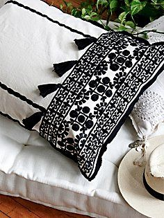 Moroccan Embroidered Pillow Case