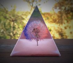 A personal favorite from my Etsy shop https://www.etsy.com/listing/293645261/pyramid-keepsake-bicolor-dandelion