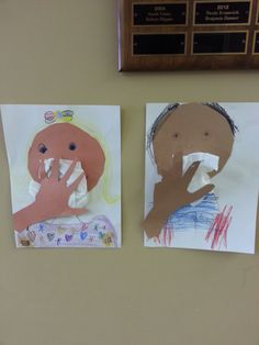 """""""Preschool Health and Hygine"""" - The hands are upside down and it looks like these kids are being chloroformed"""