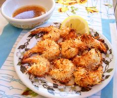 Baked Coconut Shrimp with Apricot Sesame Dipping Sauce