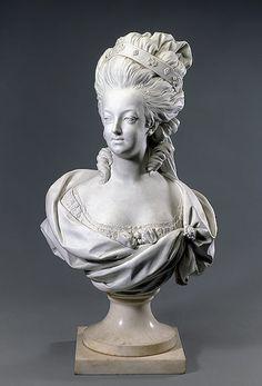 Bust of Marie-Antoinette -- 1774-82 -- Louis-Simon Boizot -- France, Sevres -- Hermitage Museum -- St. Petersburg, Russia