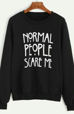 Normal people scare me jumper - Sheln