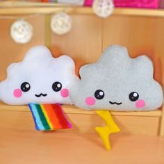 Cloud plush toy / novelty soft pillow / kawaii cushion / rainbow by Plusheez on Etsy https://www.etsy.com/listing/150893964/cloud-plush-toy-novelty-soft-pillow