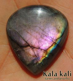 Purple Peacock Labradorite AAA Cabochon by KalaKali on Etsy, Minerals And Gemstones, Crystals Minerals, Rocks And Minerals, Love Rocks, Rocks And Gems, Gem Stones, Stones And Crystals, Labradorite, Stones For Jewelry Making